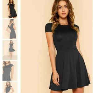 NEW V Back Skater Dress Small